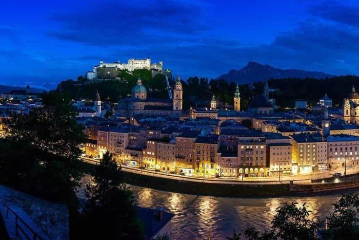 The City of Salzburg - Hotel Kirchenwirt in Puch near Salzburg, Austria