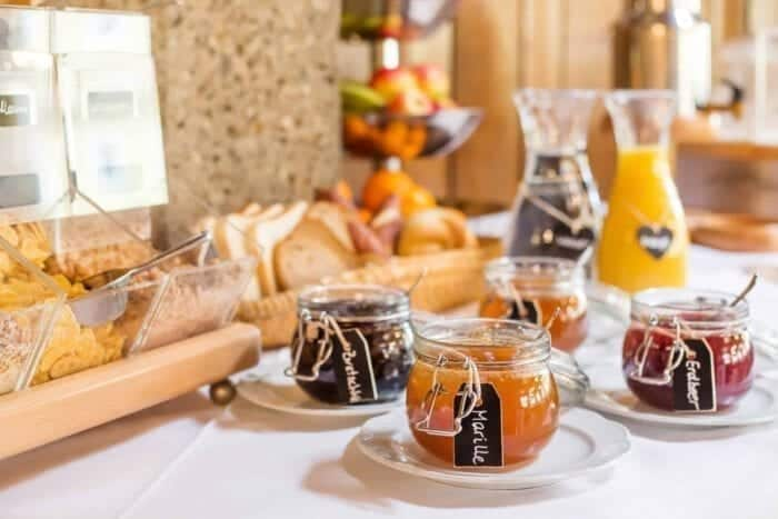 Breakfast buffet - Hotel Kirchenwirt in Puch near Salzburg, Austria