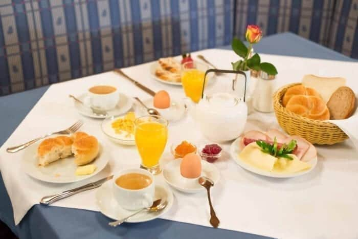 Breakfast - Hotel Kirchenwirt in Puch near Salzburg, Austria